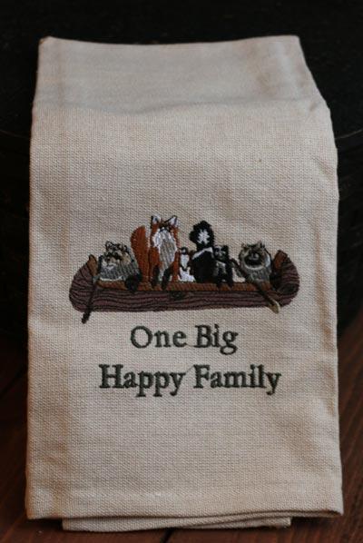 One Big Happy Family Dishtowel