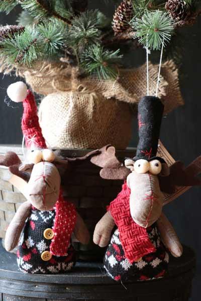 Snowflake Moose Ornament