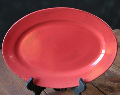 Sonoma Red Oval Platter, 12 inch