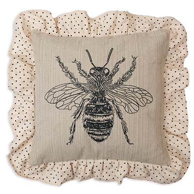 Bumblebee Ruffled Throw Pillow