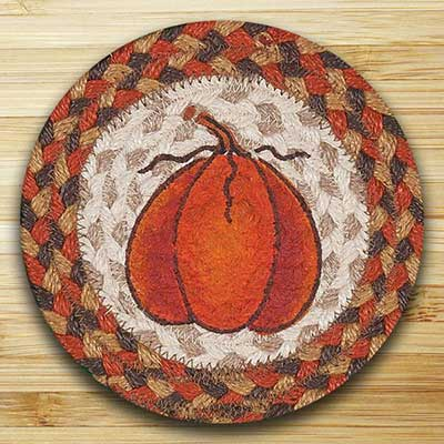 Harvest Pumpkin Braided Trivet (7 inch)