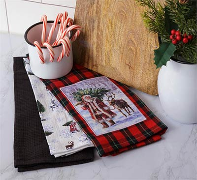 Santa Claus Lane Kitchen Towel