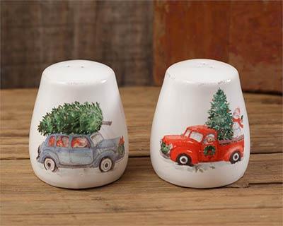 Farmhouse Christmas Salt & Pepper Shakers