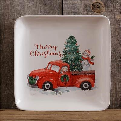 Farmhouse Christmas Plates (Set of 2)