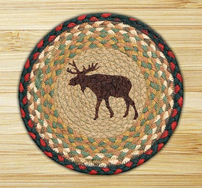 Moose Braided Jute Tablemat - Round (10 inch)