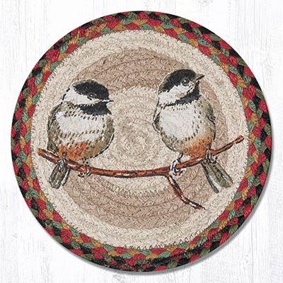 Chickadee Braided Tablemat - Round (10 inch)