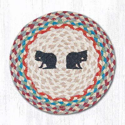 Porch Cats Braided Tablemat - Round (10 inch)