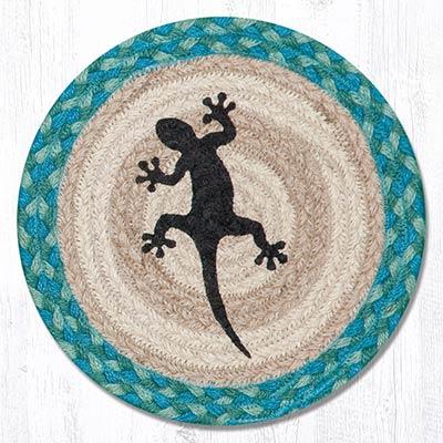 Gecko Braided Tablemat - Round (10 inch)