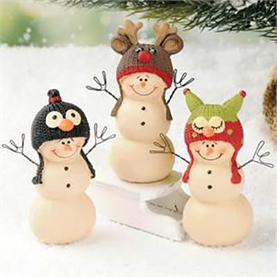 Snowman with Animal Hat