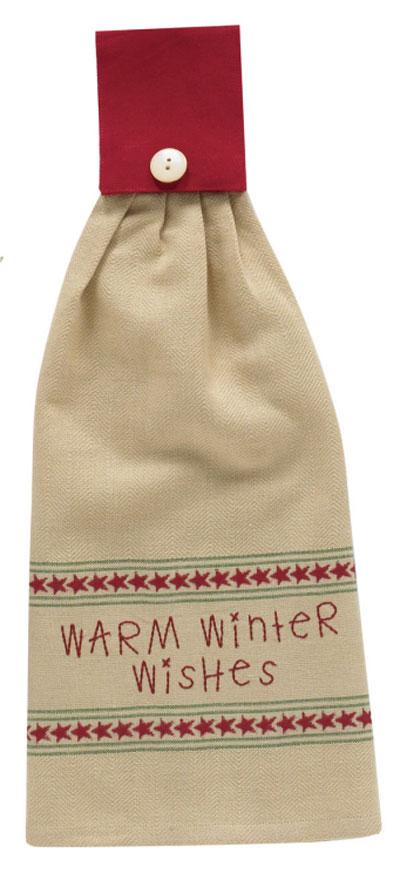 Warm Winter Wishes Hand Towel