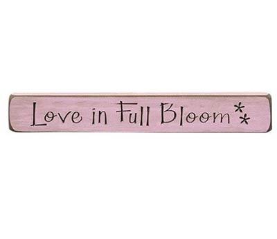Love in Full Bloom Wood Shelf Sitter
