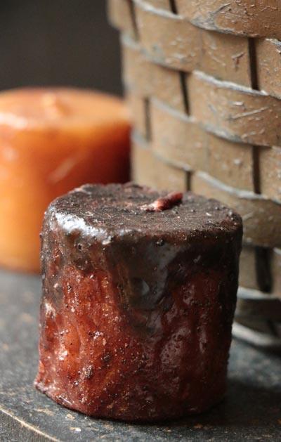 Rolled Cinnamon Pillar Candle - 2 x 2 inch
