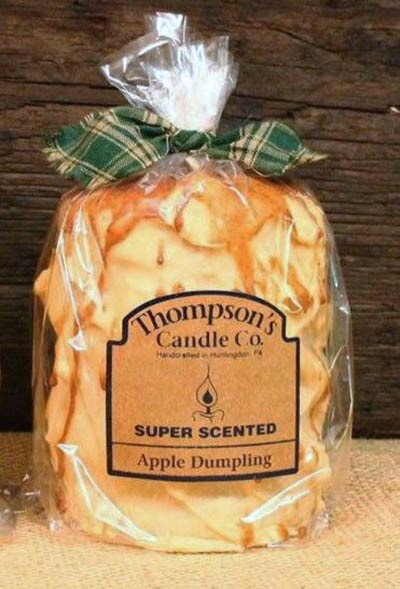 Apple Dumpling Primitive Pillar Candle - Medium