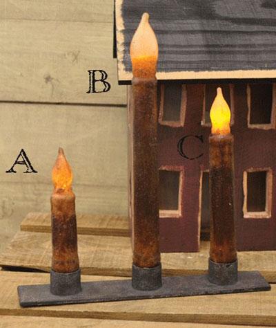 Burnt Mustard / Cinnamon Battery Taper Candle - 9 inch