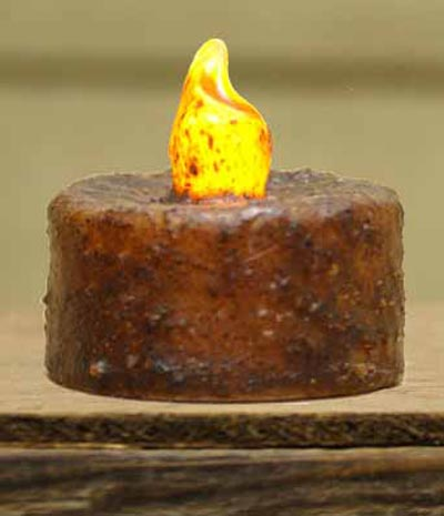 Burnt Mustard Battery Tealight