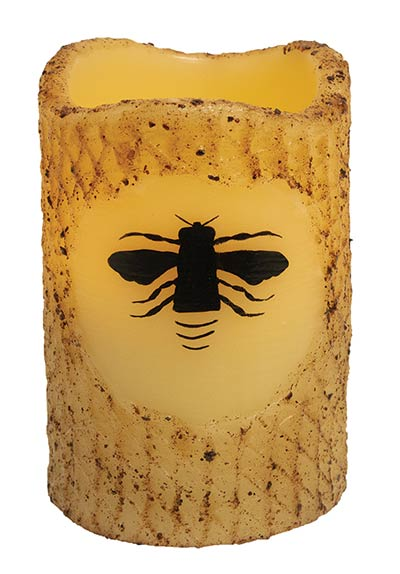 Bee Battery Pillar Candle