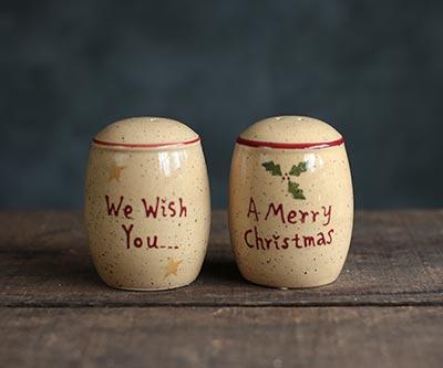 Holiday Sentiments Salt & Pepper Shakers