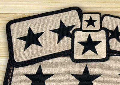 Black Star Wicker Weave Placemat