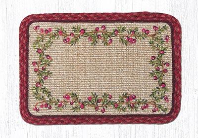 Cranberries Wicker Weave Placemat