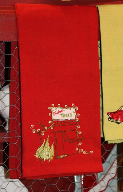 Lot Shed Embroidered Dishtowel