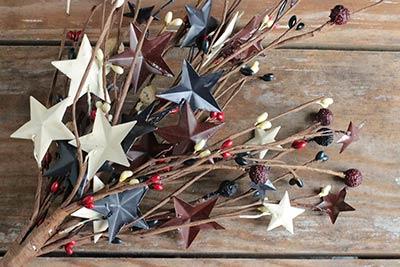 Berries & Stars Patriotic Pick