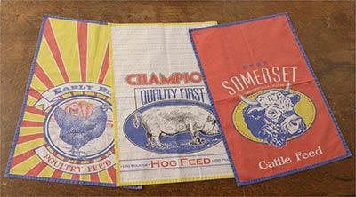 Farm Feed Sack Tea Towels (Set of 3)