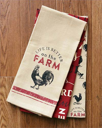 Farm Life Kitchen Towels (Set of 3)