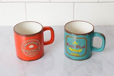 Emma's Bakery & Farm Fresh Organic Retro Mugs (Set of 2)