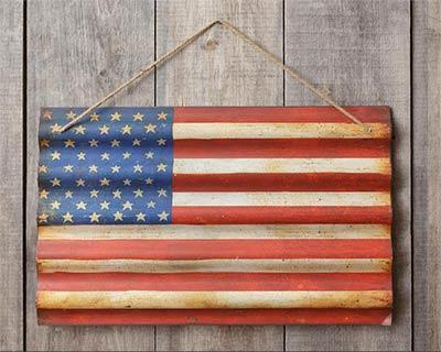 American Flag Metal Wall Hanging