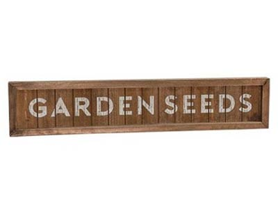 Garden Seeds Framed Sign