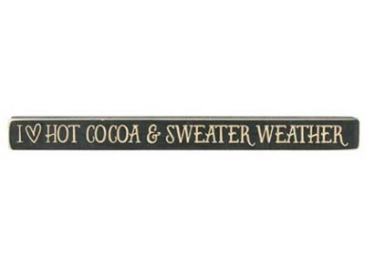 Cocoa & Sweater Weather Shelf Sitter