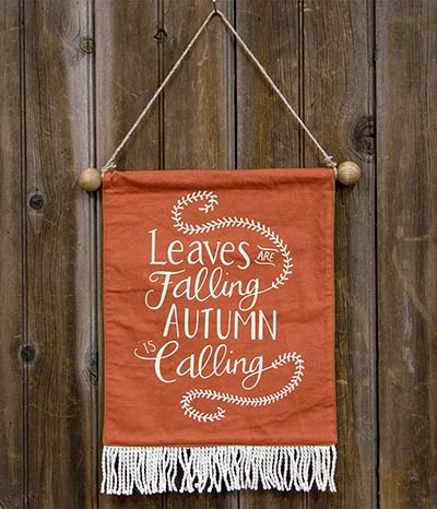 Autumn Is Calling Fabric Wall Hanging