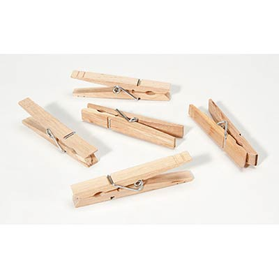 Standard Size Wooden Clothespins (30 Pack)