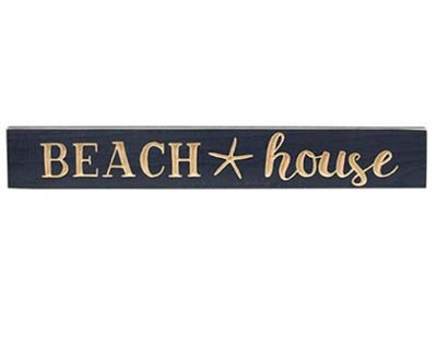 Beach House Engraved Wood Sign