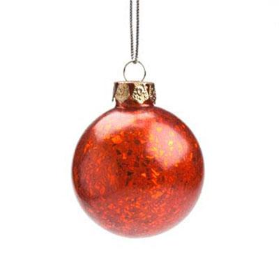 Broken Glass Ornament - Red
