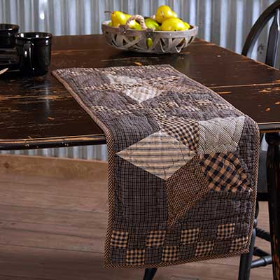 Farmhouse Star 36 inch Quilted Table Runner