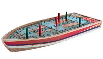Tin Boat Cribbage Board