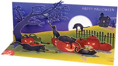 Halloween Cats Pop-up Card