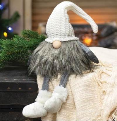 Cream Knit Santa Gnome