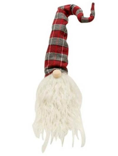 Gnome with Red & Gray Hat