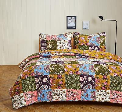 Antique Bloom Quilt Set - Twin