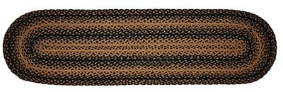 Ebony Black and Tan Braided 48 inch Table Runner