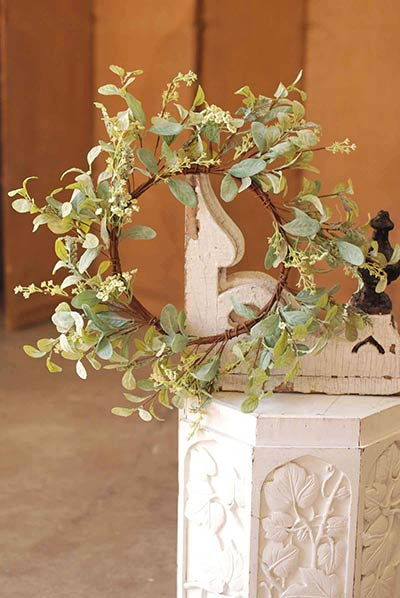 Lamb's Ear Greenery Wreath