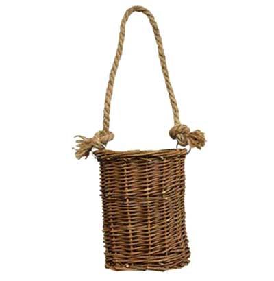 Natural Willow Small Hanging Basket