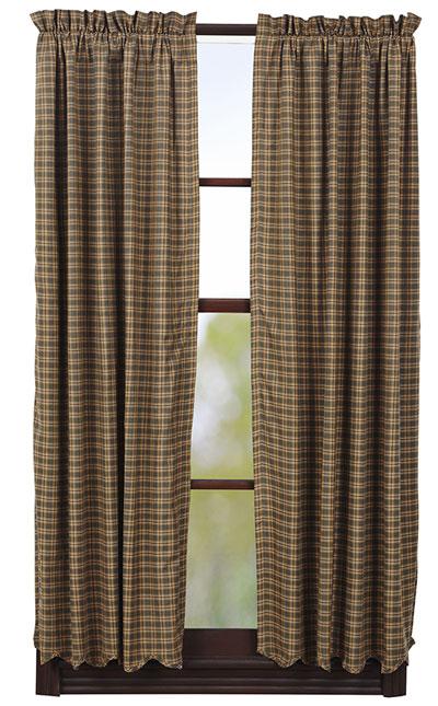 Barrington Panels - 63 inch (Green Plaid)