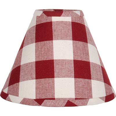 Buffalo check red 16 inch lamp shade the weed patch buffalo check red lamp shade 16 inch aloadofball Image collections