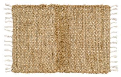 Burlap Natural Chindi Rag Rug, 27 x 48 inch