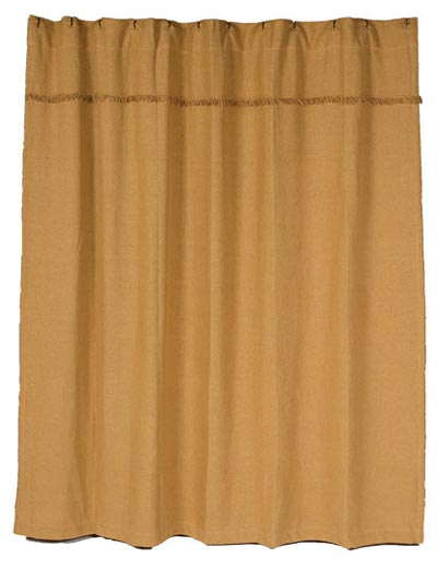 Burlap Natural Shower Curtain
