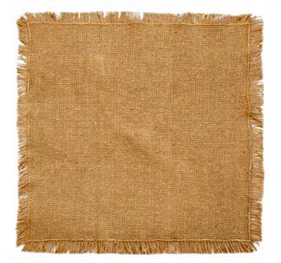 Burlap Natural Tablemat - 9 inch