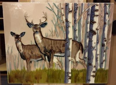 Deer Art Tile